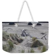 Gold Beach Oregon Beach Grass 18 Weekender Tote Bag