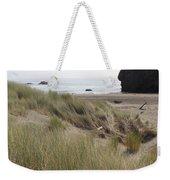 Gold Beach Oregon Beach Grass 24 Weekender Tote Bag