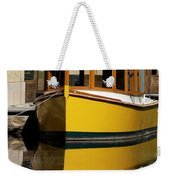 Gold Boat Reflects Weekender Tote Bag
