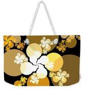 Gold Brown Spheres Weekender Tote Bag