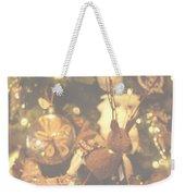 Gold Christmas Tree Decorations Weekender Tote Bag