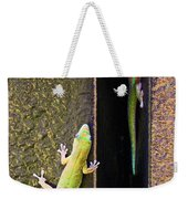 Gold Dusted Day Gecko Weekender Tote Bag