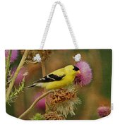 Goldfinch On Thistle Weekender Tote Bag