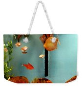 Gold Fish Life Weekender Tote Bag