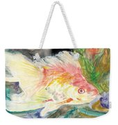 Gold Fish With Purple Weekender Tote Bag