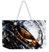 Gold Gator Eye Weekender Tote Bag