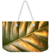 Gold Leaf Canvas Weekender Tote Bag