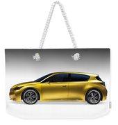 Gold Lexus Lf-ch Hybrid Car Weekender Tote Bag