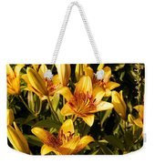 Gold Lilly Weekender Tote Bag