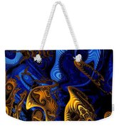Gold On Blue Weekender Tote Bag