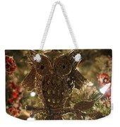 Gold Owl Weekender Tote Bag