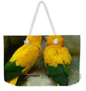 Gold Parakeets Weekender Tote Bag