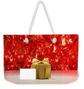 Gold Present With Place Card  Weekender Tote Bag