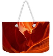 Gold Red And Orange Abstract Weekender Tote Bag