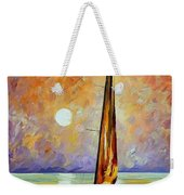 Gold Sail Weekender Tote Bag