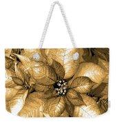 Gold Shimmer Weekender Tote Bag