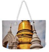 Gold Stupa Weekender Tote Bag