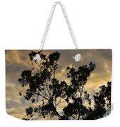Gold Sunset Tree Silhouette I Weekender Tote Bag