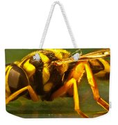 Gold Syrphid Fly Weekender Tote Bag