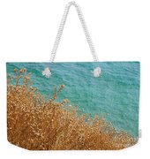 Gold Thistles And The Aegean Sea Weekender Tote Bag