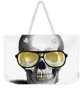 Skull With Gold Teeth And Sunglasses Weekender Tote Bag
