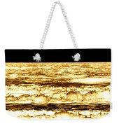 Gold Waves Weekender Tote Bag
