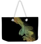 Gold Wire Abstract Weekender Tote Bag
