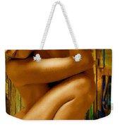 Gold Woman Nude Crop 1 Weekender Tote Bag