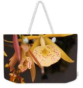 Gold Yellow Orchid  Weekender Tote Bag