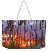 Golden Amber Weekender Tote Bag
