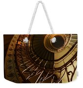 Golden And Brown Spiral Stairs Weekender Tote Bag