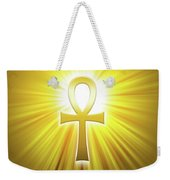 Golden Ankh With Sunbeams Weekender Tote Bag