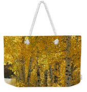 Golden Aspen Weekender Tote Bag