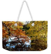Golden Autumn Trees Weekender Tote Bag
