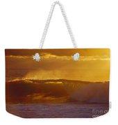 Golden Backlit Wave Weekender Tote Bag