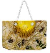 Golden Barrel Blossom Weekender Tote Bag