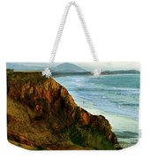 Golden Beach Cliff Side  Painterly Weekender Tote Bag