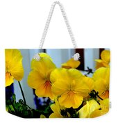 Golden Blooms Beside The Porch Weekender Tote Bag