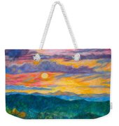 Golden Blue Ridge Sunset Weekender Tote Bag