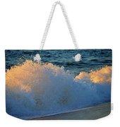 Golden Blue Splash Weekender Tote Bag