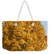 Golden Branches Round Weekender Tote Bag