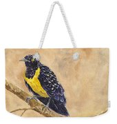 Golden Breasted Starling Weekender Tote Bag