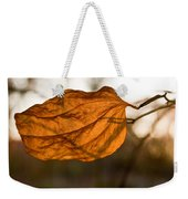 Golden Briar Leaf Weekender Tote Bag