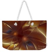 Golden Bronze Swirl Weekender Tote Bag