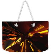 Golden Brown Abstract Weekender Tote Bag