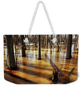 Golden Brown Frozen Pond Weekender Tote Bag