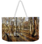 Golden Brown Pond Weekender Tote Bag