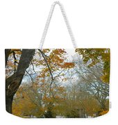 Golden Bus Stop Late Autumn Weekender Tote Bag