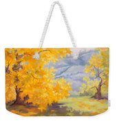 Golden California Sycamores Weekender Tote Bag