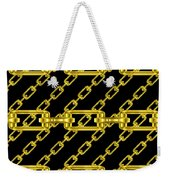 Golden Chains With Black Background Seamless Texture Weekender Tote Bag